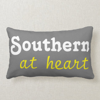 Southern at heart throw pillow