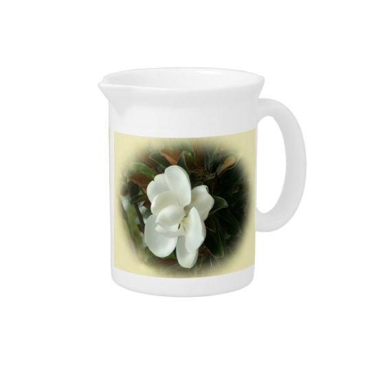 Southern Magnolia Blossom Porcelain Pitcher