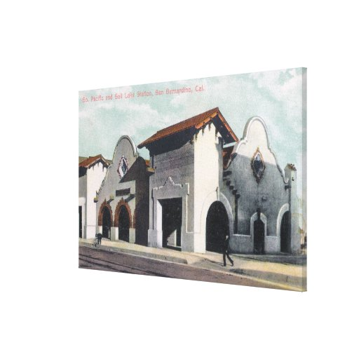Southern Pacific & Salt Lake Station Gallery Wrap Canvas