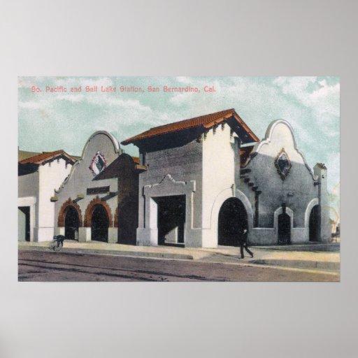 Southern Pacific & Salt Lake Station Print