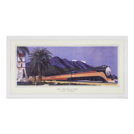 Southern Pacific Streamlined Daylight Poster
