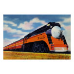 """Southern Pacific Streamlined Train """"Sunbeam"""" Poster"""