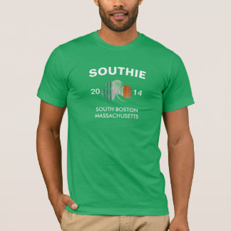 Southie Boston Massachusetts 2014 with Shamrock T-Shirt