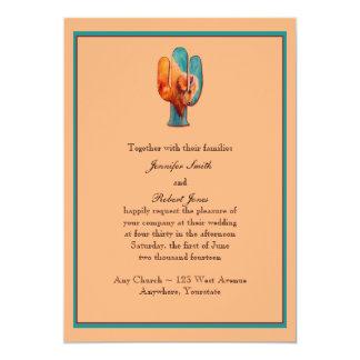 """Southwest Cactus and Buffalo Invitation 5"""" X 7"""" Invitation Card"""