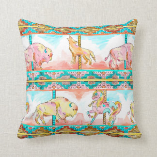 southwest carousel throw pillow nursery decor