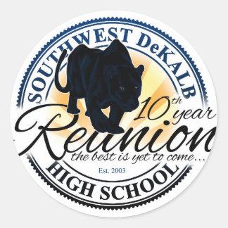 Southwest Dekalb High School Class 10 Year Reunion Classic Round Sticker
