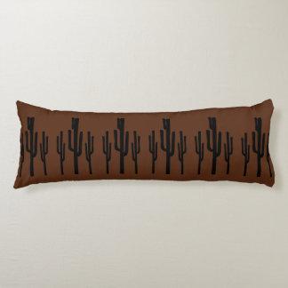 Southwest Desert Saguaro Cactus Rustic Body Pillow