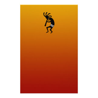 Southwest Design Dancing Kokopelli Stationery
