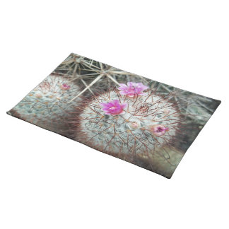 Southwest Flowering Cactus Photograph Cacti Desert Placemat