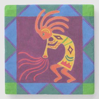 Southwest Kokopelli Flute Stone Coaster