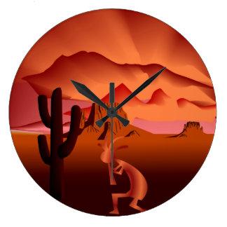 Southwest Kokopelli Large Clock