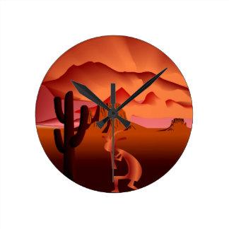 Southwest Kokopelli Round Clock