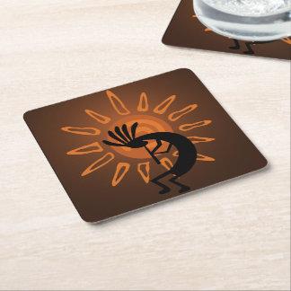 Southwest Kokopelli Sun Rustic Coasters