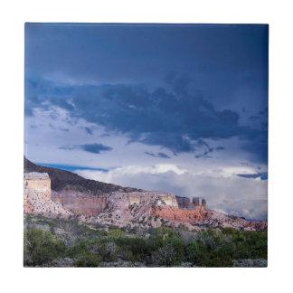 Southwest Landscape Mountains Blue Sky Tile