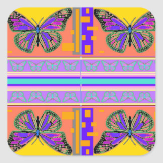 Southwest  Monarch Butterflies gifts by Sharles Square Sticker