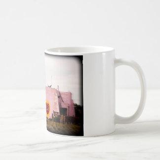 Southwest Pink Art Stucco Building Coffee Mug