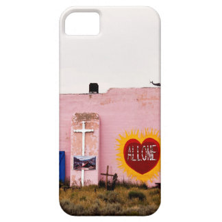 Southwest Pink Art Stucco Building iPhone 5 Cases