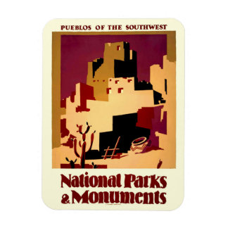 Southwest Pueblos WPA National Parks Poster Rectangular Magnet
