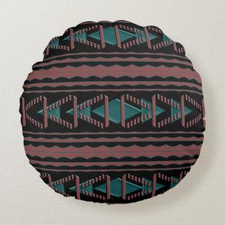 "Southwest Tapestry Cotton Round Throw Pillow 16"""