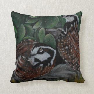 Southwestern Bobwhite Quails - Throw Pillow