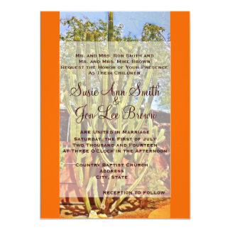 Southwestern Cactus Wedding Invitations