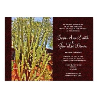 Southwestern Desert Cactus Wedding Invitations