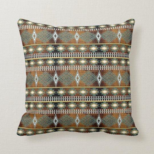 southwestern ethnic navajo pattern throw pillow
