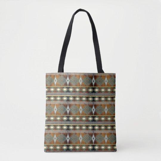 southwestern ethnic navajo pattern tote bag