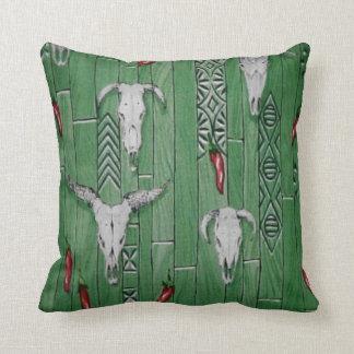 Southwestern pattern outdoor throw pillow