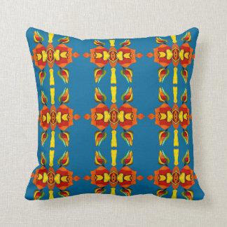 southwestern rose teal pillow by FRenee2 b