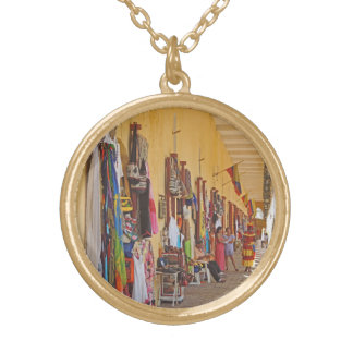 Souvenir Shops in Cartagena Colombia Gold Plated Necklace