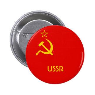 Soviet Flag 6 Cm Round Badge