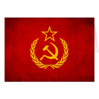 Soviet Flag Greeting Card
