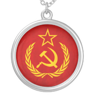 Soviet Flag Necklace