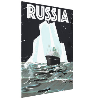 Soviet Russia Arctic Travel Poster Gallery Wrap Canvas