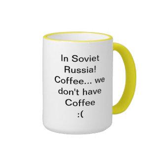 Soviet Russia Coffee! Ringer Mug