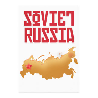 Soviet Russia Vintage Travel Poster Canvas Print
