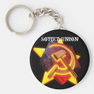Soviet Union Basic Round Button Key Ring
