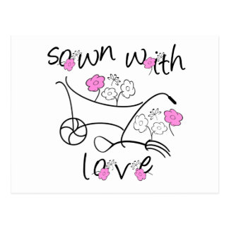 Sown With Love Gardening Tshirts and Gifts Postcard