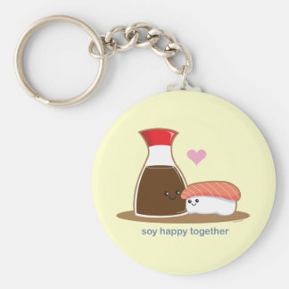 Soy Happy Together Basic Round Button Key Ring