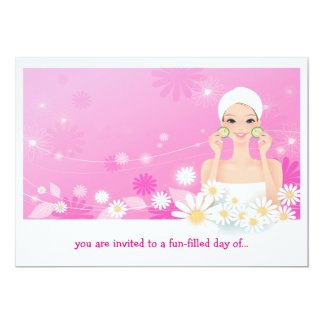 Spa Breeze Pink Birthday Invitation