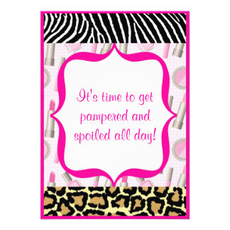 Spa Glamour Girl Birthday Party Invitations