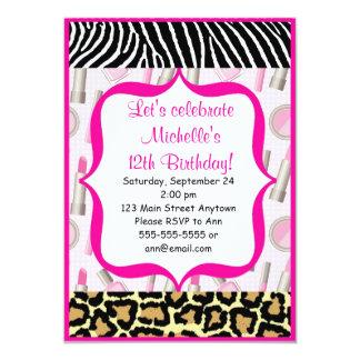 Spa Glamour Girl Birthday Party Invitations