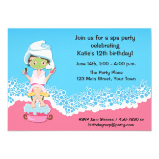 Spa Party 13 Cm X 18 Cm Invitation Card