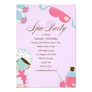 Spa Party | Birthday Party Invitation