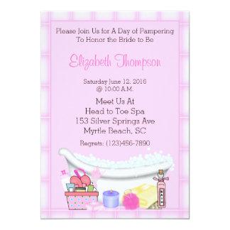 """Spa Party Invitations 5"""" X 7"""" Invitation Card"""