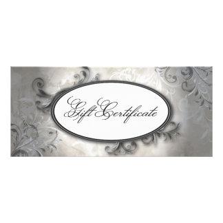 Spa & Salon Elegant Vintage Swirl Gift Certificate Rack Cards