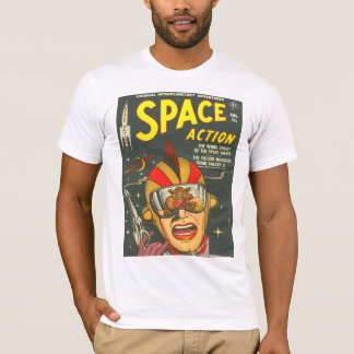 SPACE ACTION Cool Vintage Comic Book Cover Art T-Shirt