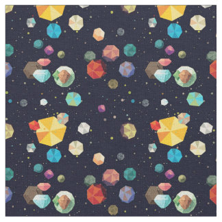 Space Asteroids Fabric