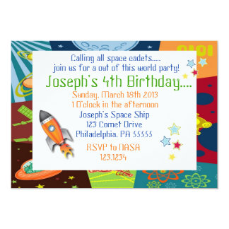 Space Birthday Invitation